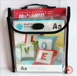 Bolso de empaquetado plástico personalizado del regalo con el negro que inclina para los libros de los niños