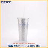 Bottiglia di acqua di plastica di vendita calda di alta qualità con paglia