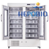 1000L grande calma Captcity Refrigetator Banco de Sangue de porta dupla
