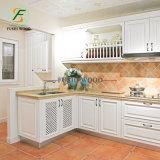 Venda por grosso de madeira maciça de design moderno, armário de cozinha