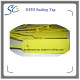 Tag plástico personalizado do selo da freqüência ultraelevada RFID do logotipo para a identificação da logística