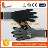 Ddsafety 2017 Nylon gris avec des gants de travail Latex noir