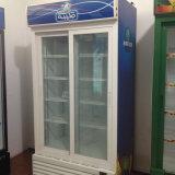 Refrigerador de vidro ereto comercial da bebida da porta