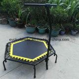 Mini trampoline hexagonal avec cordons d'éponge Trampoline fitness pour club de saut d'adulte