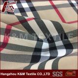 Ткань простирания дороги полиэфира 4 картины проверки ткани простирания покрашенная пряжей