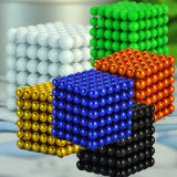esferas/esferas magnéticas de NdFeB do Neodymium do chapeamento niquelar de 216PCS 5mm na caixa do ferro