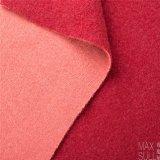 Double coton de laine et tissus d'acétate de cellulose en rouge