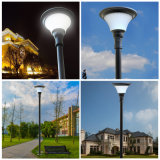 Venta al por mayor solar lámpara jardín decoración plástica ronda luz solar LED