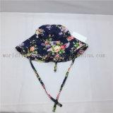 Coração de algodão Imprimir Balde Disquete Sun Flower Hat para Menina