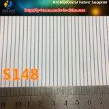 Guarnición al por mayor de la raya azul, tela teñida de los hilados de polyester para el juego (S148.151)