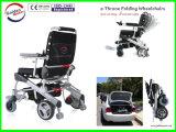 E 왕위 경량 Foldable와 휴대용 전자 휠체어