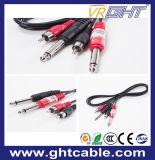RCA zwei 2 x 6.5mm zum Audios-Kabel