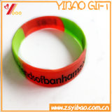 De uitstekende kwaliteit Aangepaste Armband van het Silicium van de Band van de Hand van het Embleem Rubber