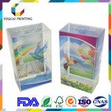 Визуализированная вычурой прозрачная пластичная коробка индикации с печатание цвета