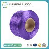 Hilado púrpura 100% de la materia textil 900d FDY PP para la torcedura cablegrafiada