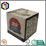 Коробка картона логоса серебряной фольги бумажная упаковывая для косметик
