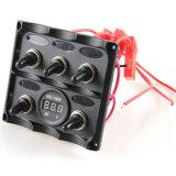 Painel de alavanca do interruptor do diodo emissor de luz de 3 grupos com o soquete de potência do cigarro