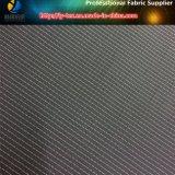 ポリエステルヤーンは黒い地面、ウインドブレイカー(YD1185)のための白い点ファブリックで染まった