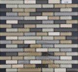 Mattonelle di mosaico del marmo di colore della miscela, mosaico di figura della striscia