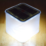 Venta al por mayor Mini Cube solar LED linterna solar inflable de luz con impermeable