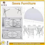 Cheap Fold-en-demi-ronde Table ronde de pliage de plein air en plastique