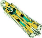 Cilindro hidráulico telescópico de duplo efeito para forquilha de elevação ultra fina