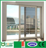 Preiswerter Preis der doppelten glasig-glänzenden Aluminiumschiebetür Pnoc00228sld