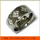 Anello di barretta dei monili del corpo di modo dell'acciaio inossidabile Czr2528