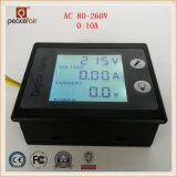 Medidor de 360 Digitas da energia da potência do amperímetro da tensão da fase monofásica 0-10A da C.A. do LCD do grau
