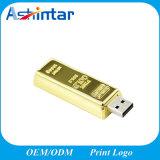 Mini disco istantaneo impermeabile del USB della barra di oro del USB Pendrive