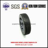 Roda plástica personalizada alta qualidade do motor do gramado com pneu de borracha