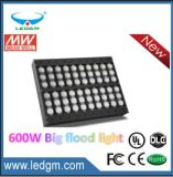 가장 새로운 600W LED 플러드 빛이 1200W-2000W를 대체하는 2017의 ETL Dlc에 의하여 목록으로 만들어진 배터리 전원을 사용하는 LED 플러드 빛은 보장 7 년 숨겼다