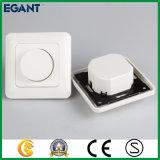Panneau tactile en verre Interrupteur d'éclairage à gradateur blanc
