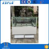 Vetrina di vetro diritta del gelato da vendere/armadietto di esposizione di scavatura