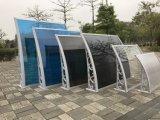 Pára-sol plástico impermeável do pátio fixo externo do material de construção