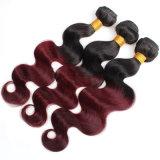 Extensão peruana do cabelo do Virgin não processado de trama natural do cabelo humano