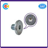 Acero de carbono de GB/DIN/JIS/ANSI/4.8/8.8/10.9 tornillos galvanizados inoxidables de la pista del botón del hexágono