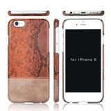De la contraportada del estuche rígido de alta calidad PC + PU de cuero de la piel de cuero para iPhone7