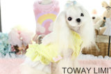 Cute Coral Velvet Dog Clothes Bowtie Dog Dress Winter Pet Coat