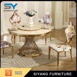 花の布が付いているホーム家具の金のレストランの椅子