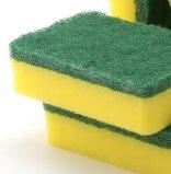 Esponjas baratas para a limpeza da cozinha