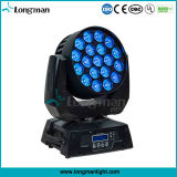 19PCS 15W RGBW 4in1 LEDのズームレンズ移動ヘッド競技場ライト