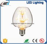 MTX 3W E27 220V装飾的な型のエジソンの電球のガラスダイヤモンドのクリスマスツリーの星LEDの球根