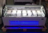 Showcase comercial do congelador do gelado do refrigerador/de Gelato/refrigerador gelado (F-QV660A-W)