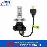 自動車照明50W 6000lm X3 LEDヘッドライトの球根H4 H13 9004 H1 H3 H7 H11 9005 6000K