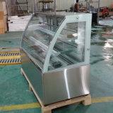 유리 미닫이 문 (KI770A-S2)를 가진 상업적인 케이크 또는 생과자 냉장고