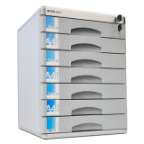 Gabinete de armazenamento do arquivo do escritório das gavetas do alumínio 7 para o uso de múltiplos propósitos