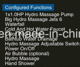 Dia1550mm redondo permanente libre spa con bañera de masaje RoHS CE para 4 personas (A-0942)