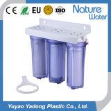 Фильтр воды 3 этапов домашний чисто с голубым ясным снабжением жилищем