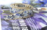Merletto di cristallo di vetro delle gemme dei Rhinestones degli accessori per il vestiario del cappello di vestito da cerimonia nuziale dello zaffiro (TS-030)